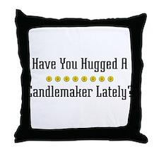 Hugged Candlemaker Throw Pillow