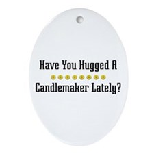 Hugged Candlemaker Oval Ornament