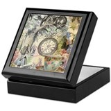 Alice in wonderland Square Keepsake Boxes