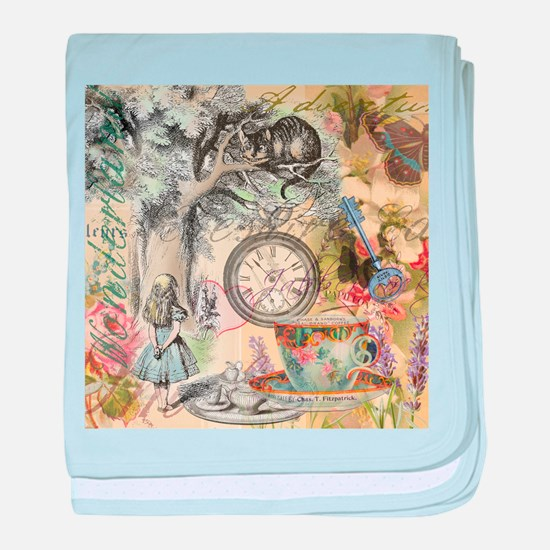 Cheshire Cat Alice in Wonderland baby blanket