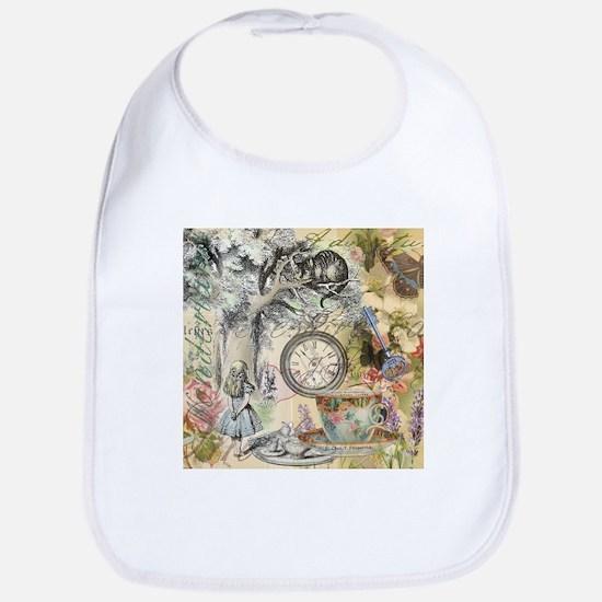 Cheshire Cat Alice in Wonderland Bib