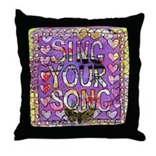 Sing YOur Song Inspiration Throw Pillow