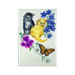 Kittens & Butterfly Rectangle Magnet (100 pack)