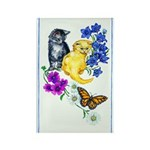 Kittens & Butterfly Rectangle Magnet (10 pack)