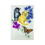 Kittens & Butterfly Rectangle Magnet