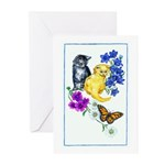 Kittens & Butterfly Greeting Cards (Pk of 10)