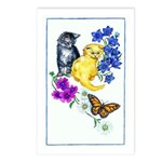 Kittens & Butterfly Postcards (Package of 8)