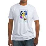 Kittens & Butterfly Fitted T-Shirt