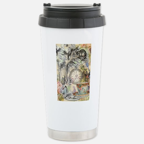 Cheshire Cat Alice in Wonderland Travel Mug