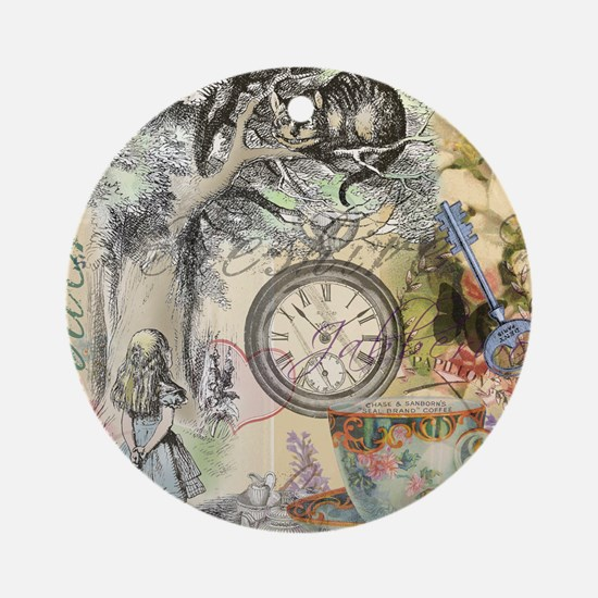 Cheshire Cat Alice in Wonderland Ornament (Round)