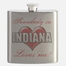 Somebody In Indiana Loves Me Flask