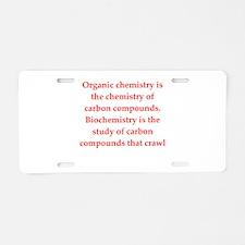 chemistry joke Aluminum License Plate