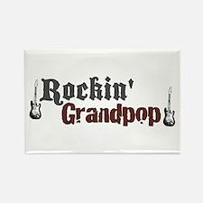 Rockin Grandpop Rectangle Magnet
