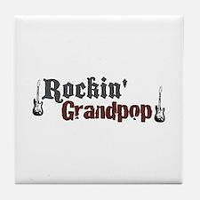 Rockin Grandpop Tile Coaster
