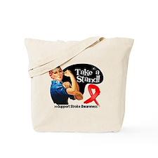 Stroke Stand Tote Bag