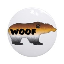FURRY PRIDE BEAR/WOOF Ornament (Round)