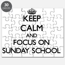 Keep Calm and focus on Sunday School Puzzle