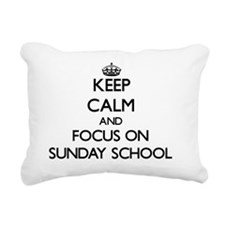 Keep Calm and focus on S Rectangular Canvas Pillow