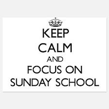 Keep Calm and focus on Sunday School Invitations