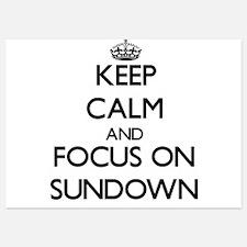 Keep Calm and focus on Sundown Invitations