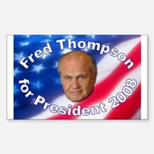 """Fred Thompson 2008"" Rectangle Decal"