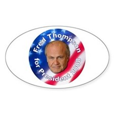 """Fred Thompson 2008"" Oval Decal"