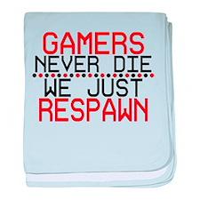 Gamers Respawn baby blanket