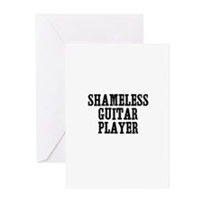 shameless guitar player Greeting Cards (Package of
