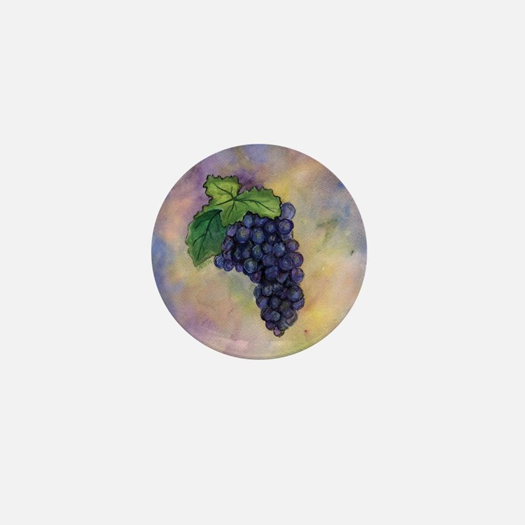 Red Wine Grapes Mini Button