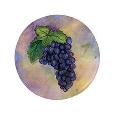 "Red Wine Grapes 3.5"" Button"