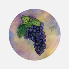 """Red Wine Grapes 3.5"""" Button"""