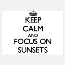 Keep Calm and focus on Sunsets Invitations