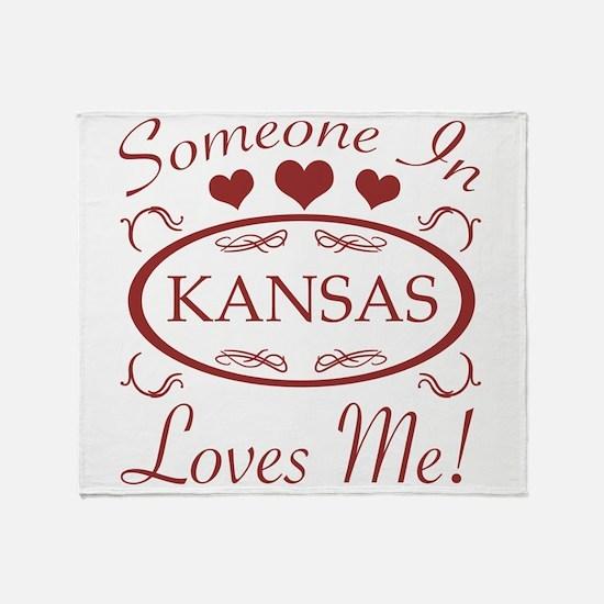 Somebody In Kansas Loves Me Throw Blanket