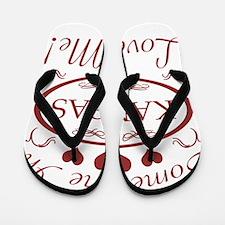 Somebody In Kansas Loves Me Flip Flops