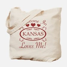 Somebody In Kansas Loves Me Tote Bag