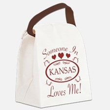 Somebody In Kansas Loves Me Canvas Lunch Bag