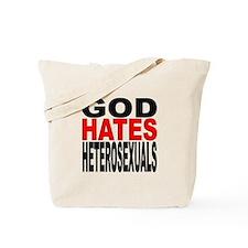 God Hates Heterosexuals Tote Bag