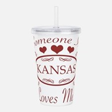 Somebody In Kansas Lov Acrylic Double-wall Tumbler