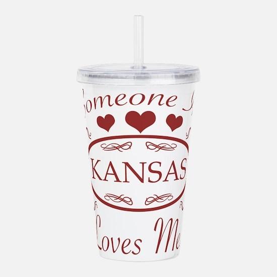 Somebody In Kansas Lov Acrylic Double-wall Tumbler