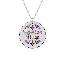 Peace Love Bingo Necklace