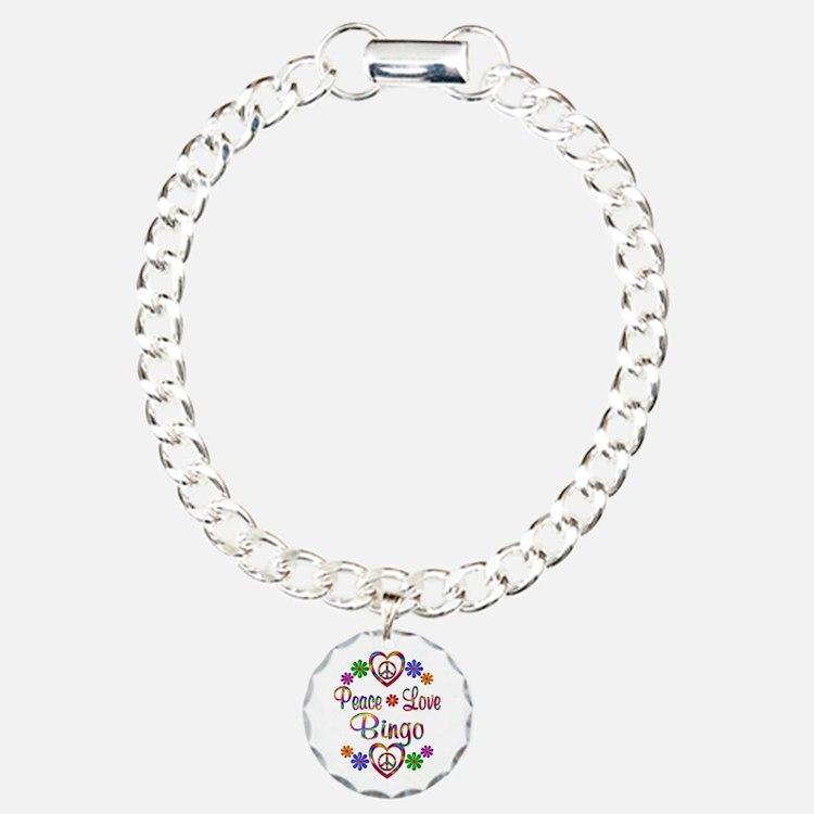Peace Love Bingo Bracelet