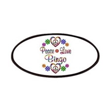 Peace Love Bingo Patches