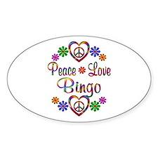 Peace Love Bingo Decal