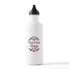 Peace Love Bingo Water Bottle