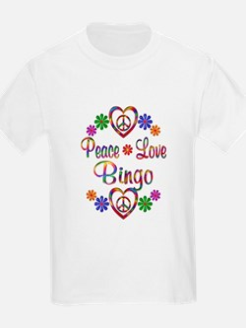 Peace Love Bingo T-Shirt