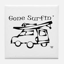 Gone Surfing Tile Coaster