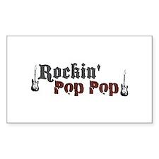 Rockin Pop Pop Rectangle Decal