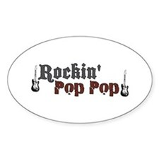 Rockin Pop Pop Oval Decal