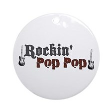 Rockin Pop Pop Ornament (Round)