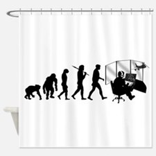 Air Traffic Controller Shower Curtain